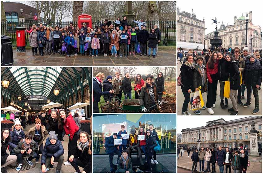 Alumnos de Alcaste-Las Fuentes representan a España en Reino Unido como parte del proyecto Erasmus +